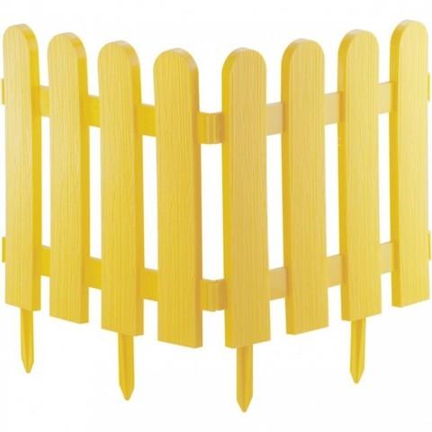 Забор декоративный Классика 29х224см желтый Palisad