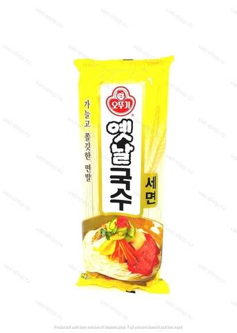 Лапша пшеничная (круглая очень тонкая) Ottogi, Корея 500 гр.