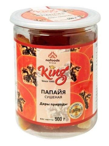 Натуральная сушеная папайя King, 500 г.