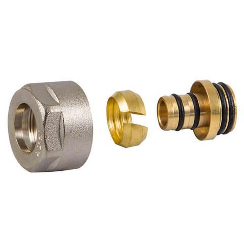 Резьбовое соединение для пластиковых труб белое GW 3/4-16x2