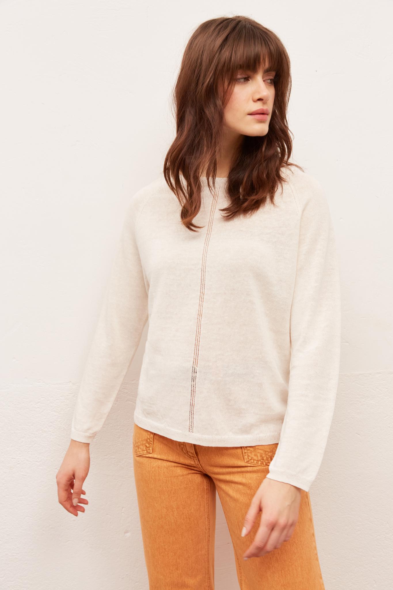 ELLIA - легкий свитер из смесового льна