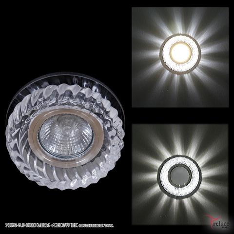 71093-9.0-001D MR16 +LED3W BK светильник точ.