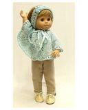 Вязаное пончо - На кукле. Одежда для кукол, пупсов и мягких игрушек.