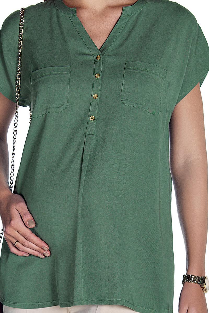 Блузка для беременных 08489 зеленый