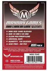 Протекторы для настольных игр Mayday Mini Chimera Game (43x65) - 100 штук