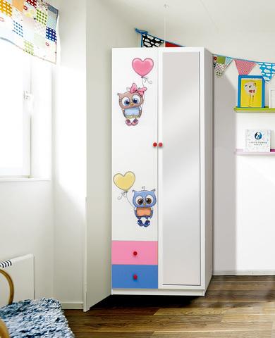 Шкаф 2-х дверный с ящиками Совята