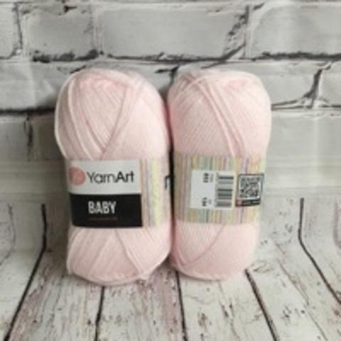 Пряжа YARNART BABY №853 бледно розовый