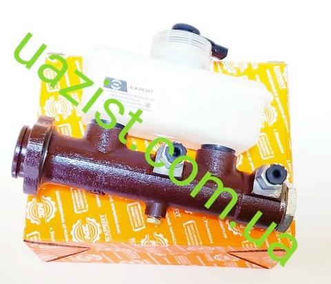 Купить главный тормозной цилиндр (ГТЦ) Уаз 452, 3303, 469 нового образца (с 1-м бачком) (пр-во Адс)