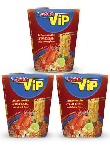 Лапша Том Ям со вкусом креветки острая в термостном стакане 3 штуки по 65 гр 1кор*1бл*3шт