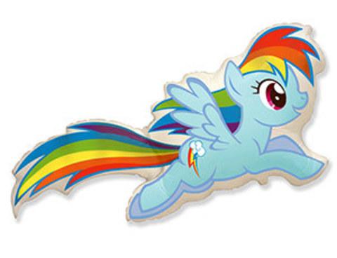 Фольгированный шар Радуга Дэш My Little Pony