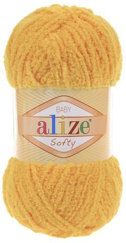 Пряжа Alize SOFTY 216 желтый