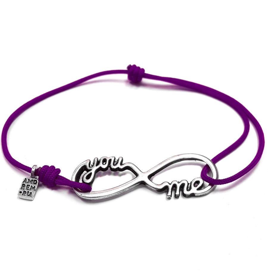 Infinity You and Me Bracelet, Sterling Silver