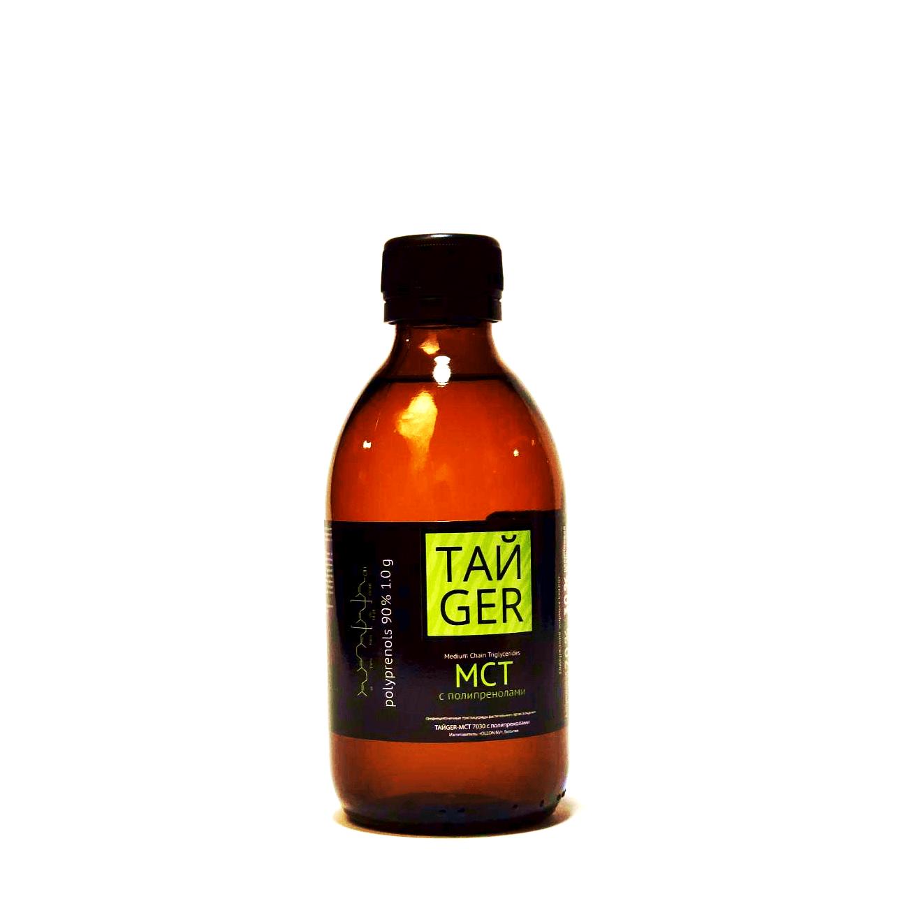 ТАЙGER MCT масло с полипренолами, 90%, 1 г, 250 мл