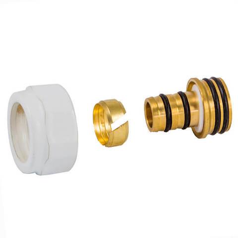 Резьбовое соединение для пластиковых труб хром GW 3/4-16x2