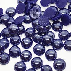Купить оптом термоклеевой керамический полужемчуг темно-синий Blue Night