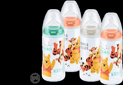 Бутылочка NUK Disney First Choice с соской из силикона, 300 мл 0-6 мес.