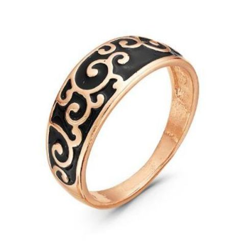 Кольцо с эмалью и позолотой