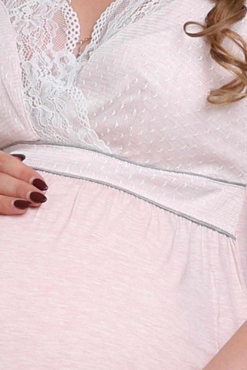 Ночная сорочка для беременных и кормящих 09605 пудра