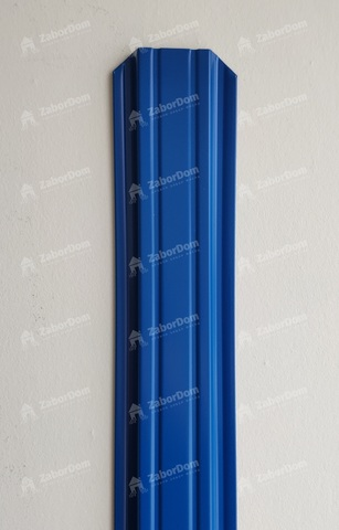 Евроштакетник металлический 85 мм RAL 5005 П - образный 0.5 мм