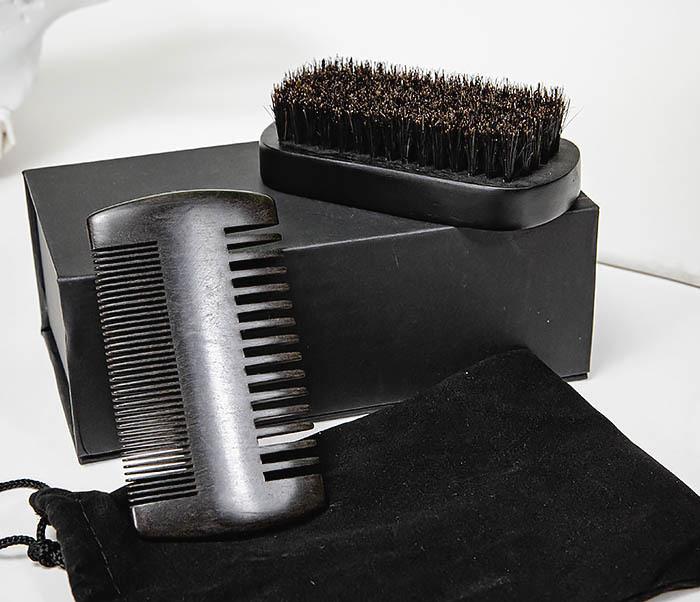 CARE151-1 Подарочный набор из щетки и гребня для бороды фото 05