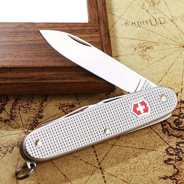 Складной нож Victorinox Pioneer Alox (0.8201.26) рукоять из рифлёного алюминия, 93 мм., 8 функций | Wenger-Victorinox.Ru