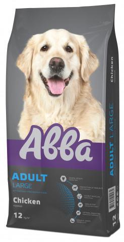 АBBA Adult Large корм для собак крупных пород старше 1 года, с курицей 3 кг.
