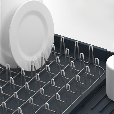Сушилка для посуды раздвижная Extend серая