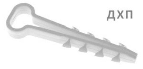 Дюбель-хомут ДХП-8 для плоского кабеля 5-8мм нейлон белый (100шт) TDM