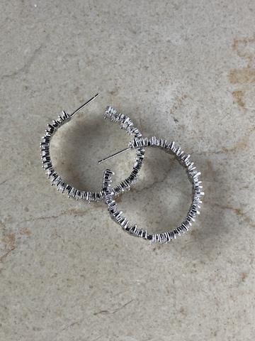 Серьги Тициана, серебряный цвет