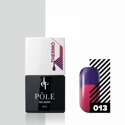 Гель-лак POLE - термо №13 - фиолетовый/розовый (8 мл.)