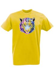 Футболка с принтом Тигр (Tiger) желтая 001