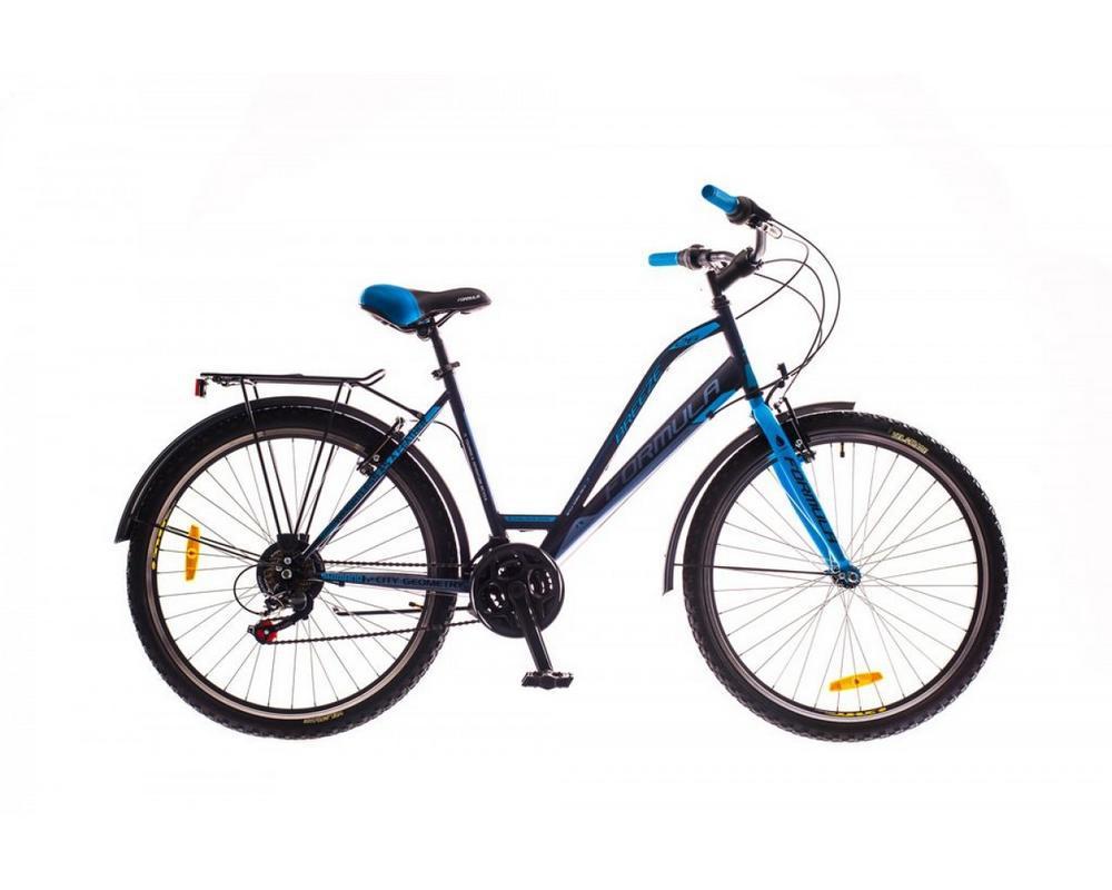 Черно-синий женский городской велосипед Formula Breeze 2016 с колесами 26 дюймов