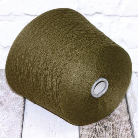 Кашемир 2/28 CARIAGGI / CASHMERE 100 зеленый защитный