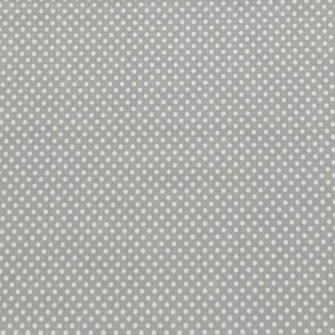 Ткань хлопковая белый горошек 3 мм на сером. Отрез 50*80 см