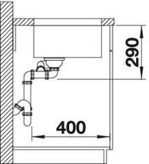Мойка Blanco Andano 340/180-U схема