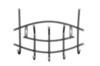 Вешалка настенная на  5 крючков ВНП3 (цвет черный), Ника, г. Ижевск