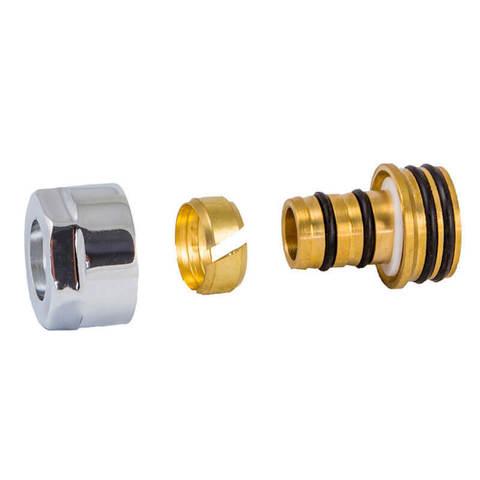 Резьбовое соединение для пластиковых труб античная латунь GW 3/4-16x2