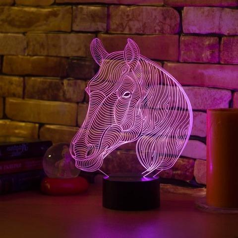 Ночник Лошадь с гривой