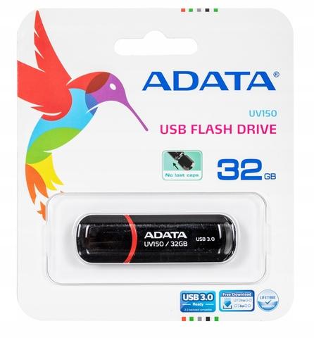 Флэш-диск USB3 32gb a-data uv150 черный 90/20 мб/с auv150-32g-rbk