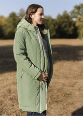 Пуховик для беременных зимний 2 в 1 цвет  изумруд