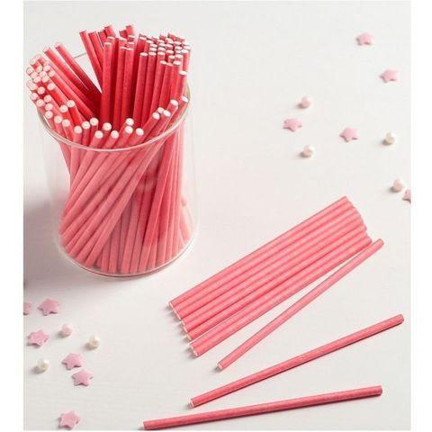 Палочки для кейкпопсов Красные 15 см/100 шт Китай