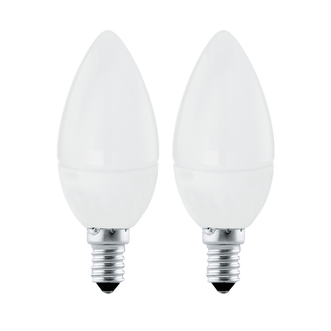 """Лампа (комплект 2 шт.) Eglo LED LM-LED-E14 2X4W 320Lm 4000K C37 """"Свеча"""" 10793"""