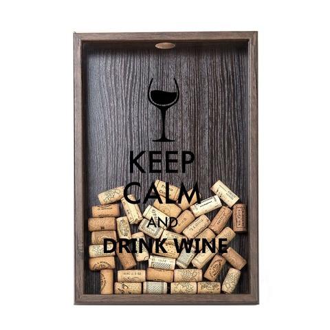 Копилка для винных пробок Keep calm, Венге