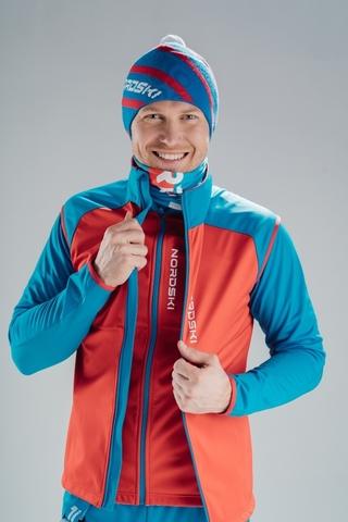 Жилет разминочный Nordski Premium Red/Blue мужской