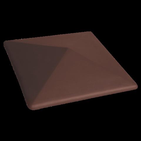 Колпак для столбов забора King Klinker, Коричневый (03) Natural Brown, 400x400x90