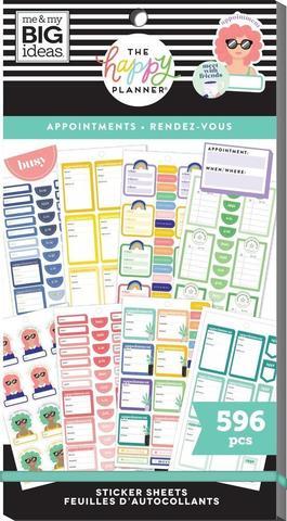 Блокнот со стикерами для ежедневника Create 365 Happy Planner Value Pack Stickers - Appointments- 596 шт