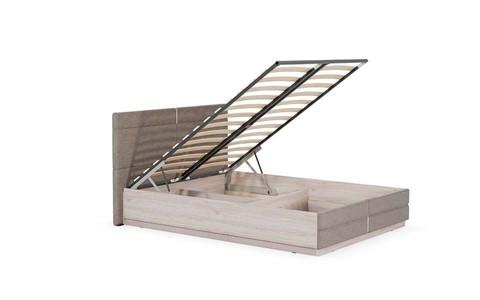 Кровать двойная Элен Моби 160x200 ясень шимо светлый/саванна латте