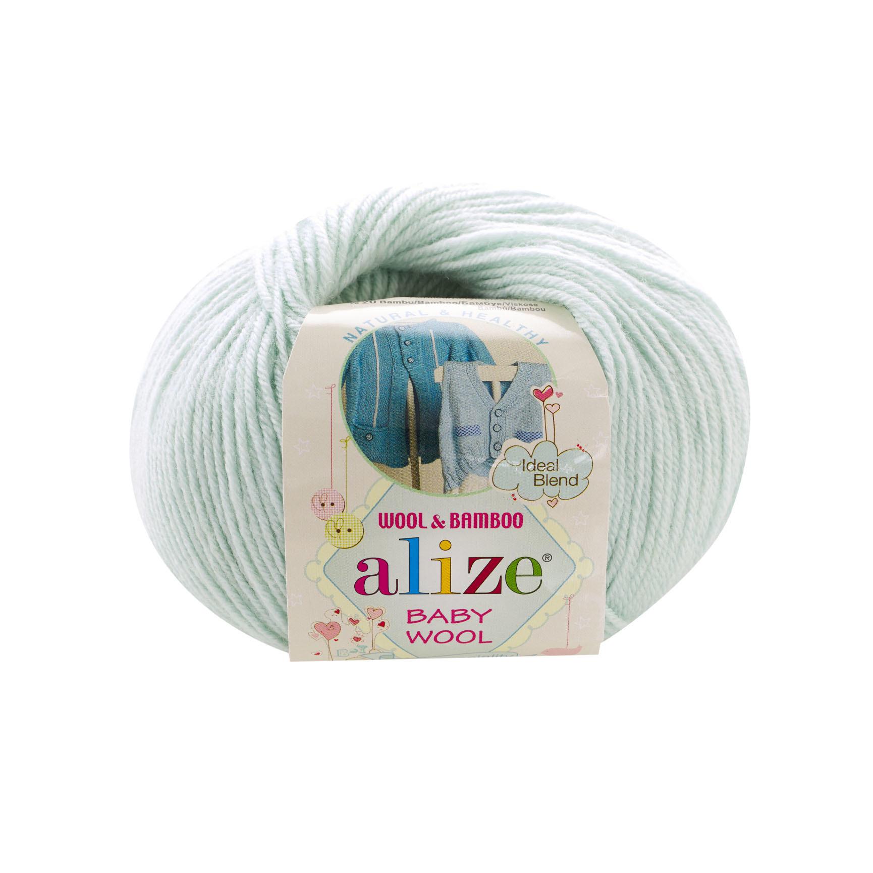 Пряжа Alize Baby Wool нежная мята 522