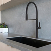 Смеситель для кухни с магнитным держателем и гибким шлангом KITCHEN MAGNET 388801MCNM черный - фото №3