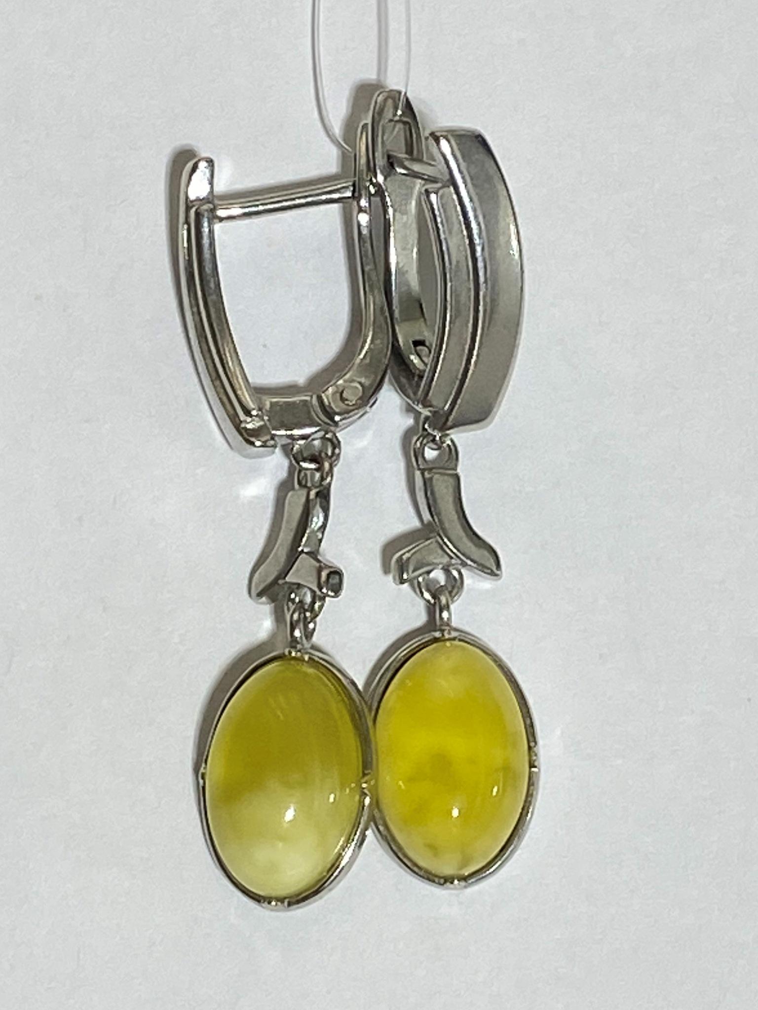Янтарь 1171 (серьги из серебра)